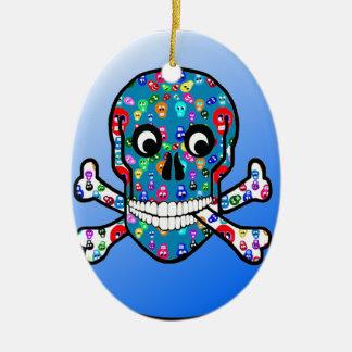 """Skulls"" of ""Bred Meli "" Ceramic Ornament"