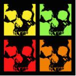 Skulls of color retro table top decor photo cutout