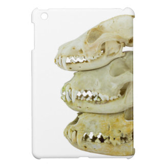 Skulls of fox and dogs on top of each other iPad mini cover