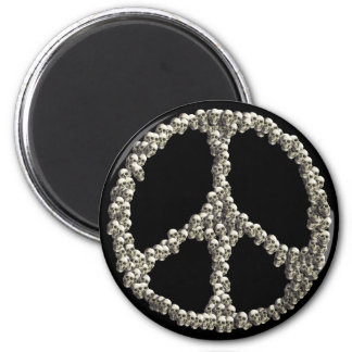 Skulls Of Peace 2 Inch Round Magnet