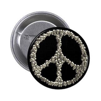 Skulls Of Peace Pinback Buttons