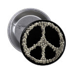 Skulls Of Peace Pinback Buttons