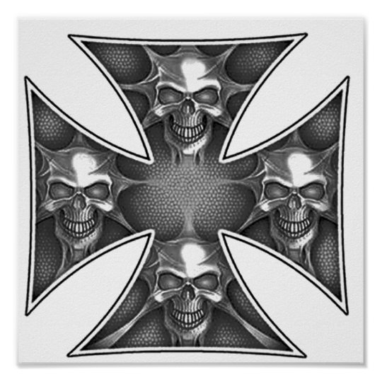 Skulls of the Iron Cross Poster