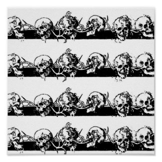 Skulls on a Vine. Circa 1901 Mexico Poster