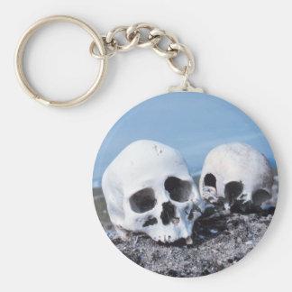 Skulls on the Beach Keychain