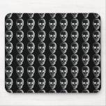Skulls Pattern. Black and White. Mousepad