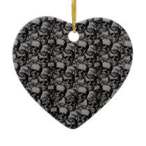 Skulls pattern ceramic ornament