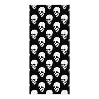 Skulls pattern rack card
