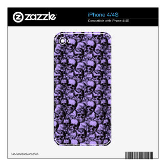 Skulls pattern skins for iPhone 4S