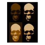 Skulls Pop Art Style Postcard