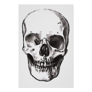 Skulls Poster Print Black & White Pop Art Posters