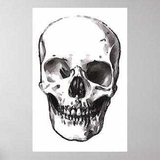 Skulls Poster Print Black & White Pop Art Posters