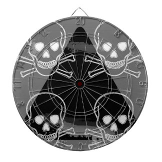 skulls pyramid black white dart boards