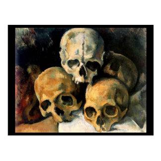 Skulls Pyramide Postcard