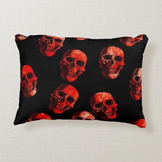 skulls red 3 accent pillow
