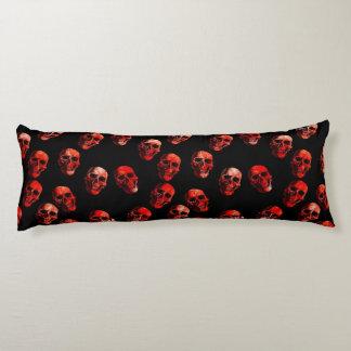 skulls red 3 body pillow