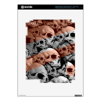 Skulls (red highlights) decal for iPad 3