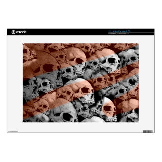"Skulls (red highlights) skin for 15"" laptop"