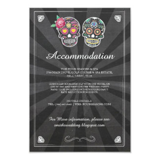 Skulls Roses Accommodation Rustic Wedding Cards