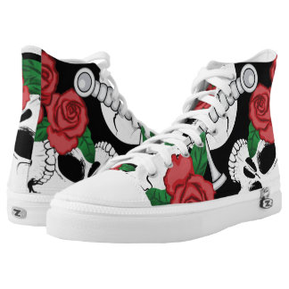 Skulls, Roses and Dagger Printed Shoes