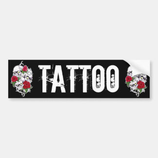 Skulls & Roses Car Bumper Sticker