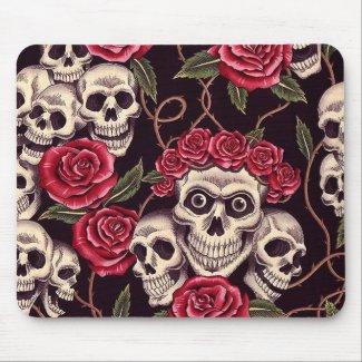 Skulls & Roses mousepad