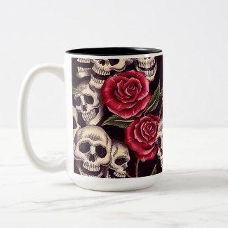 Skulls & Roses mug