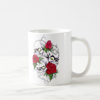 Skulls & Roses Classic White Coffee Mug