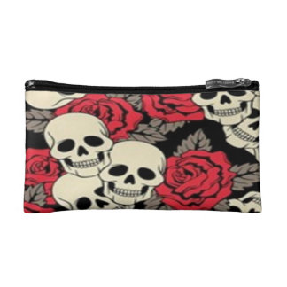 Skulls & Roses Small Cosmetic  Bag