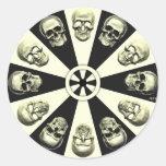 Skulls Round Stickers