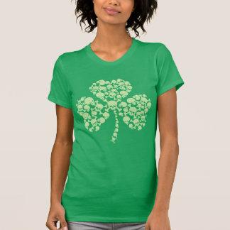 Skulls Shamrock St Patricks Day T-Shirt