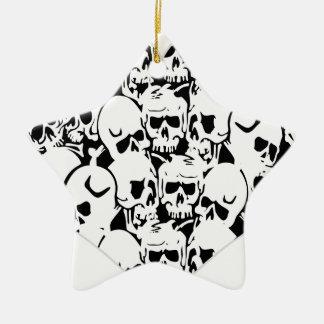 Skulls Skulls and Skulls Black Ornament