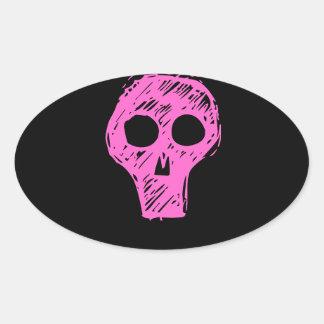Skulls Oval Sticker