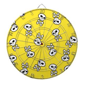 skulls tile dart board