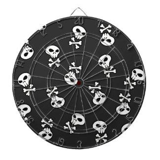 Skulls Tile Dartboard With Darts