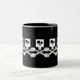 Skulls Two-Tone Coffee Mug