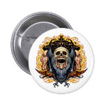 Skulls, Vampires and Bats customizable by Al Rio. Pinback Button