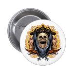 Skulls, Vampires and Bats customizable by Al Rio. Pinback Button