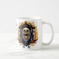 skull, skulls, vampire, vampires, bat, fire, blood, al rio, Mug with custom graphic design
