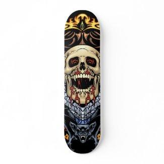 Skulls, Vampires and Bats customizable by Al Rio skateboard
