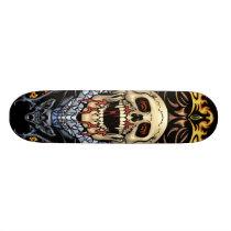skull, skulls, vampire, vampires, bat, fire, blood, rio, skateboard, demons, Skateboard with custom graphic design