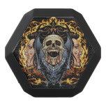 Skulls, Vampires and Bats Gothic Design by Al Rio Black Bluetooth Speaker
