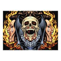 gothic,, skull,, skulls,, vampire,, vampires,, bat,, fire,, blood,, al rio, Invitation with custom graphic design