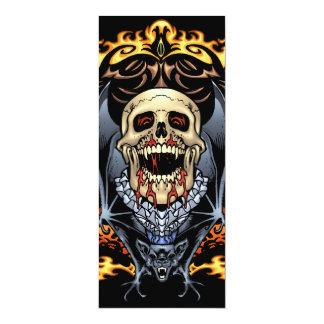 Skulls, Vampires and Bats Gothic Design by Al Rio Card