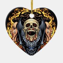 gothic,, skull,, skulls,, vampire,, vampires,, bat,, fire,, blood,, al rio, Ornament with custom graphic design