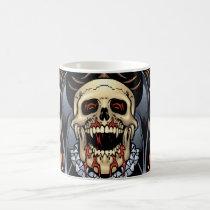 gothic,, skull,, skulls,, vampire,, vampires,, bat,, fire,, blood,, al rio, Mug with custom graphic design