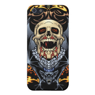 Skulls, Vampires and Bats Gothic Design by Al Rio Cover For iPhone SE/5/5s