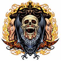 gothic,, skull,, skulls,, vampire,, vampires,, bat,, fire,, blood,, al rio, Photo Sculpture with custom graphic design