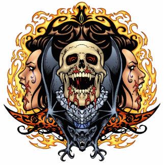 Skulls, Vampires and Bats Gothic Design by Al Rio Cutout