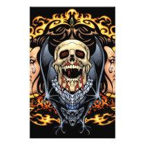 gothic,, skull,, skulls,, vampire,, vampires,, bat,, fire,, blood,, al rio, Flyer with custom graphic design